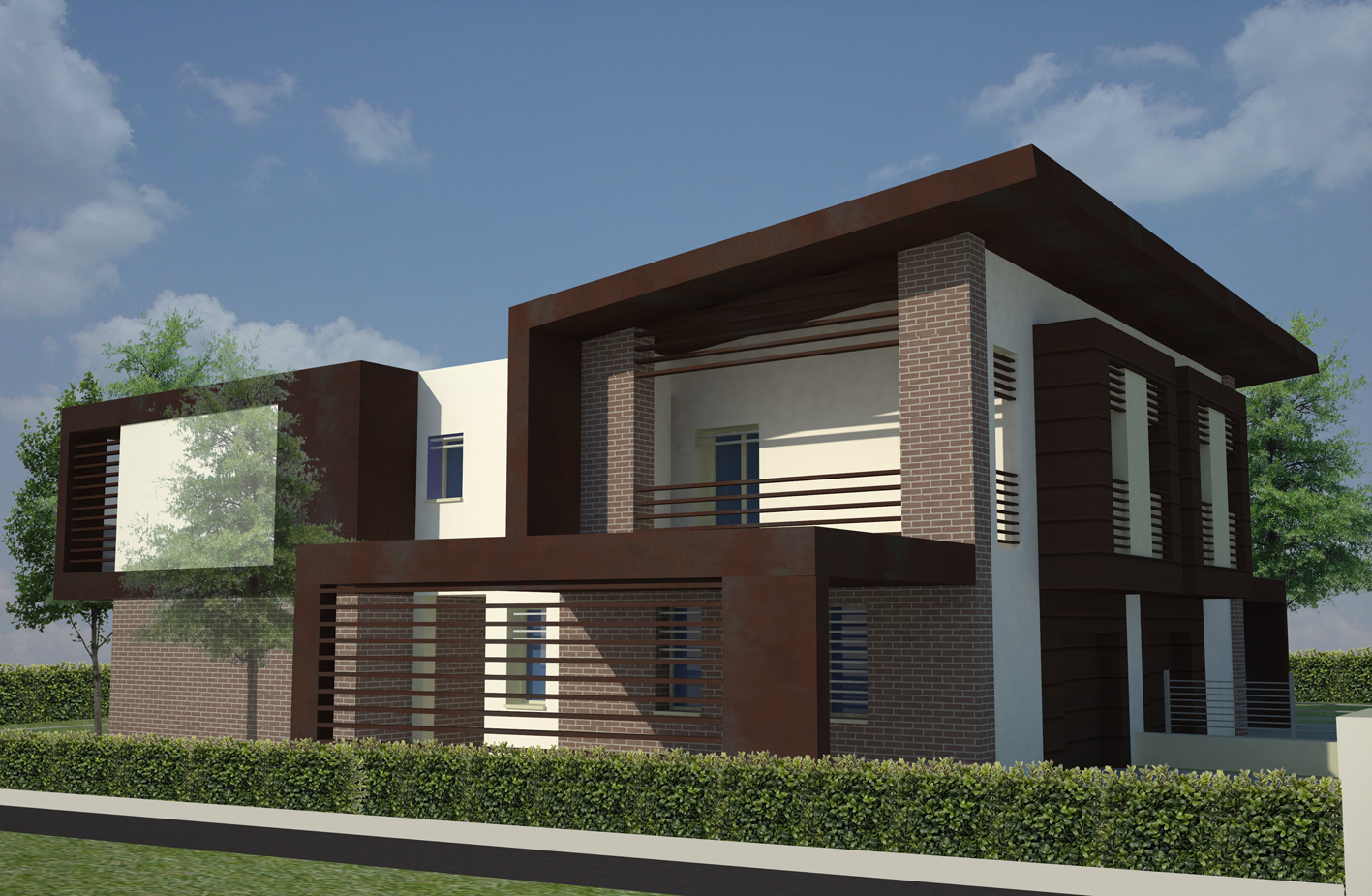 Villa abbinata 1072 franzoni studio for Prospetti ville