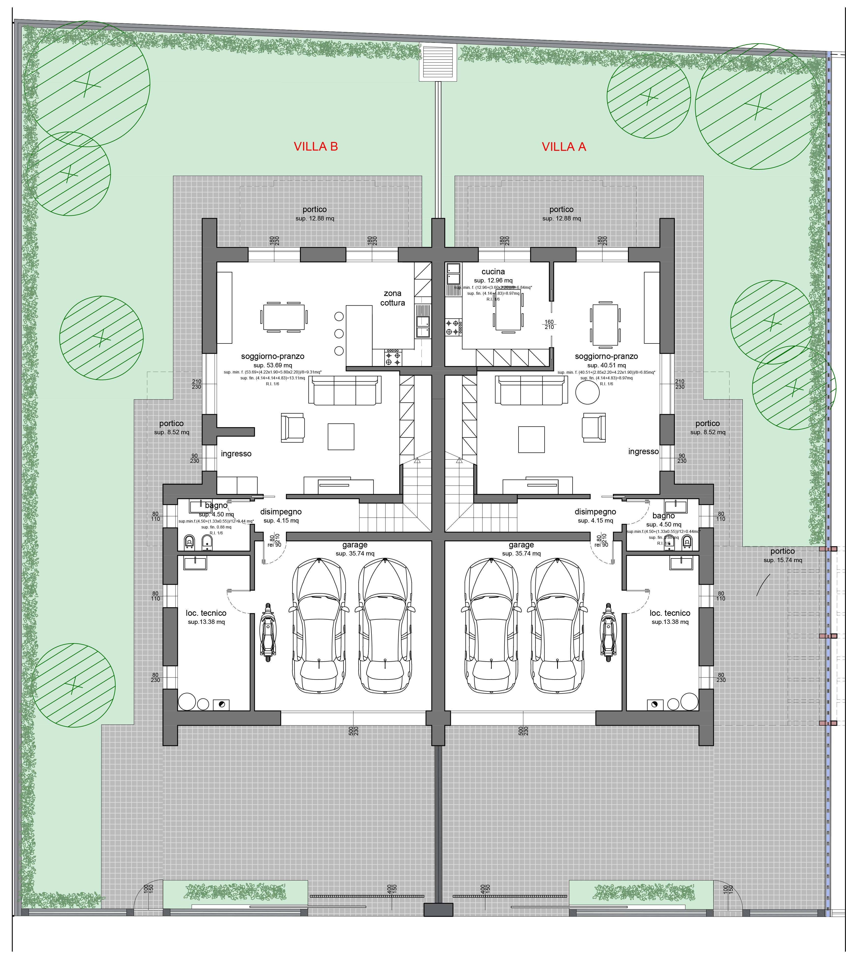 Progetto villa un piano planimetria casa in legno mq with - Planimetria casa moderna ...