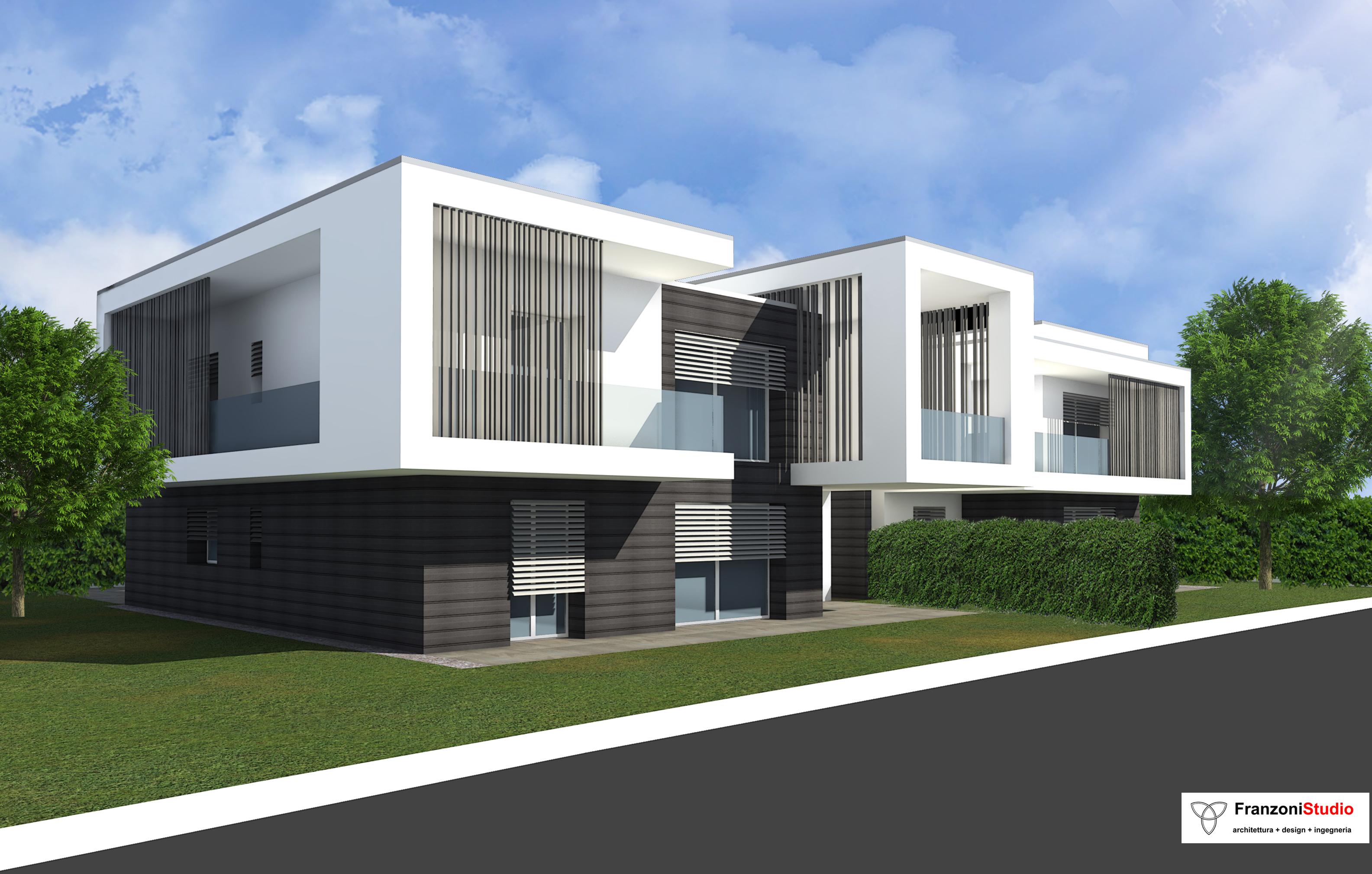 Progetti di villette singole progetti ville moderne with for Progetto ville moderne nuova costruzione